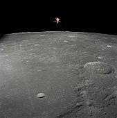 November 19, 1969 - The Apollo 12 lunar module Intrepid is set in a lunar landing configuration.