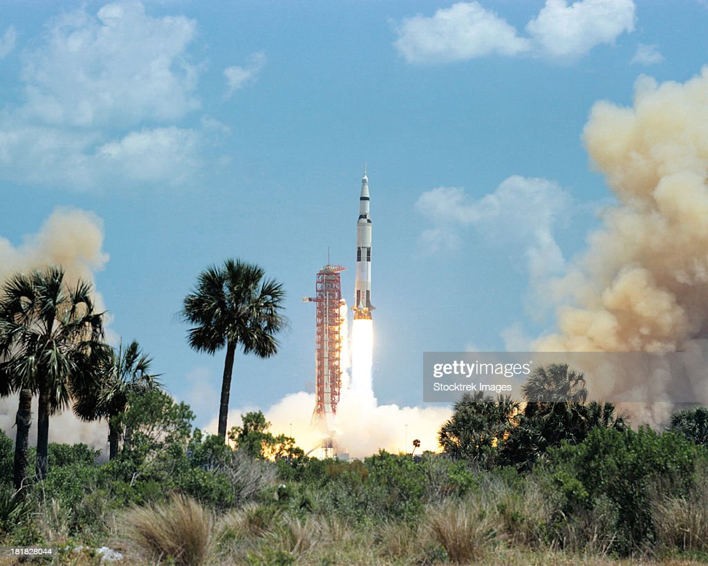 The Apollo 16 space vehicle is launched from Kennedy Space Center.
