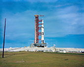 The Apollo Saturn 501 launch vehicle mated to the Apollo spacecraft.