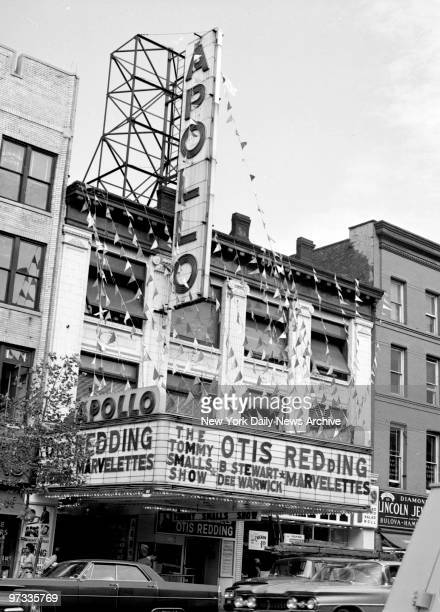 The Apollo Theater in Harlem Otis Redding Billy Stewart and the Marvelettes are shown on the marquee