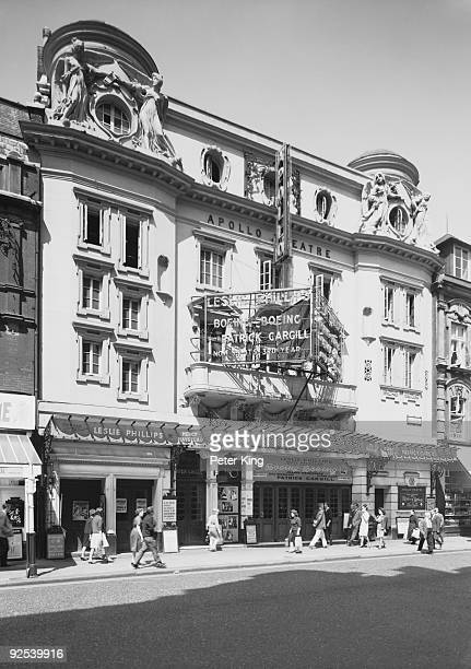 The Apollo Theatre on Shaftesbury Avenue London 12th May 1964 The play currently showing is 'Boeing Boeing' starring Leslie Phillips Patrick Cargill...