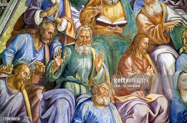 The Apostles 14991504 by Luca Signorelli frescoed sail vault first span Chapel of San Brizio right transept of Orvieto Cathedral Orvieto Umbria Italy...
