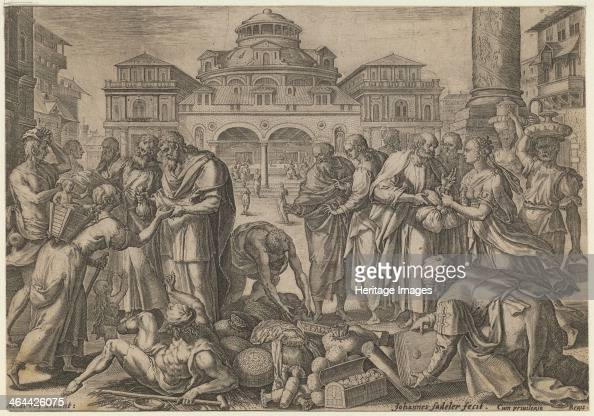 The Apostles Distribute the Money to those in Need ca 1600 From a private collection