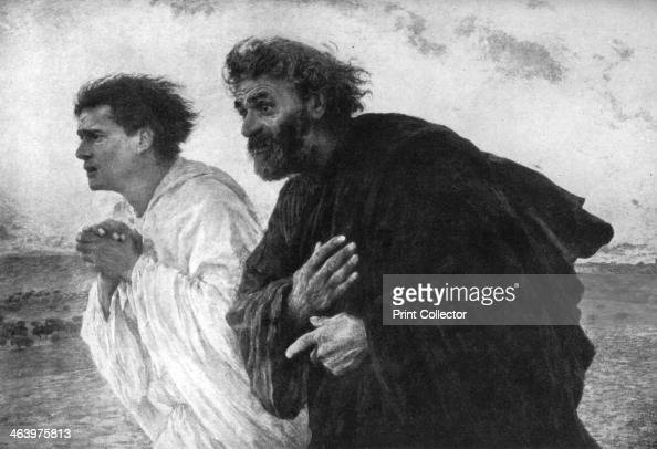 The Apostles Peter and John on the Morning of the Resurrection 1926 From An Outline of Christianity The Story of Our Civilisation volume 1 The Birth...