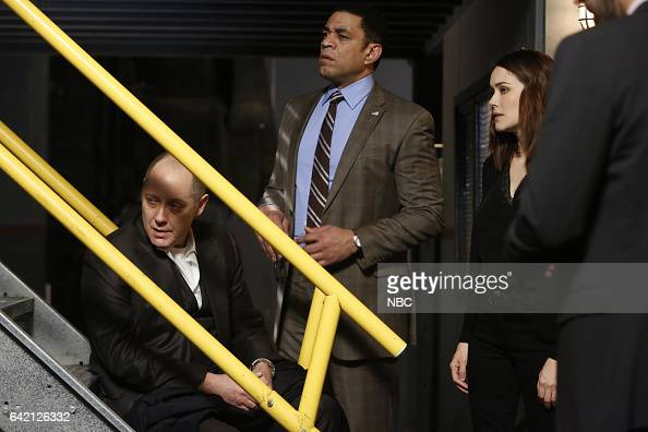 THE BLACKLIST 'The Apothecary' Episode 415 Pictured James Spader as Raymond 'Red' Reddington Harry Lennix as Harold Cooper Megan Boone as Elizabeth...