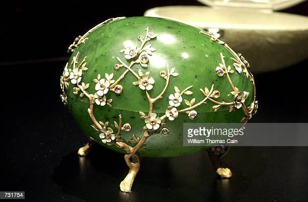 The Apple Blossom Easter Egg part of the Faberge Collection on display at the First USA Riverfront Arts Center September 14 in Wilmington DE The...