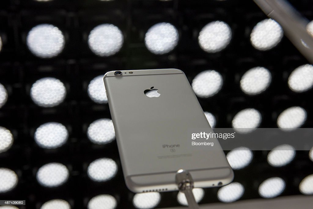 The Apple Inc iPhone 6s Plus smartphone is displayed after a product announcement in San Francisco California US on Wednesday Sept 9 2015 Apple Inc...