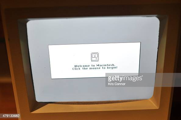 The Apple Macintosh which debuted in 1984 is on display during the grand opening of National Museum Of American History's Innovation Wing at the...