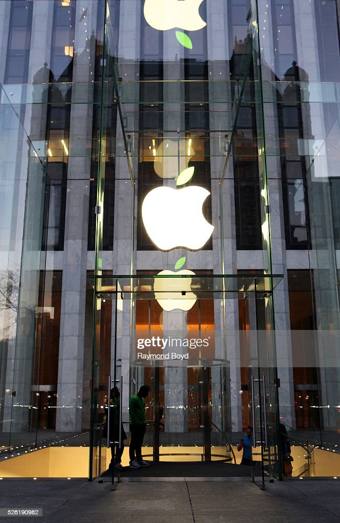 The Apple Store in New York New York on April 16 2016