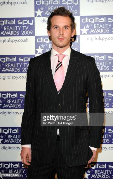 The Apprentice winner Alex Wotherspoon at the Digital Spy Reality TV Awards at the Bloomsbury Ballroom in London