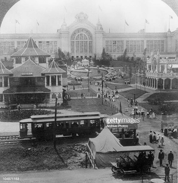 The approach to the Palace of Agriculture at the 1904 World Fair held in St Louis Missouri