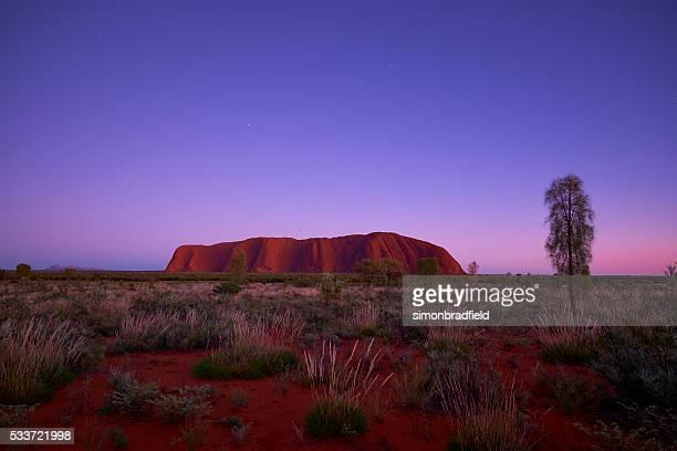 The Approaching Dawn And Uluru