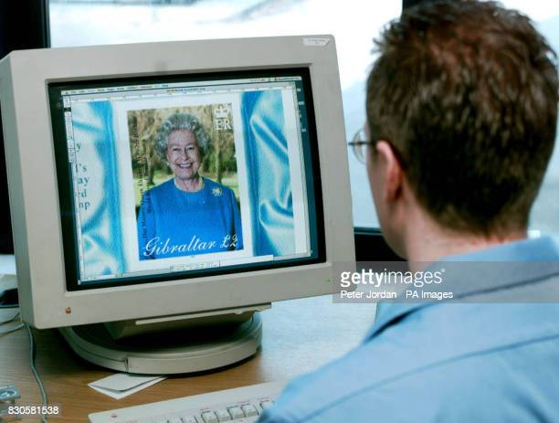 The approved image of the Queen arrives at House of Questa at the start of the production process that will see it printed into stamps that will...