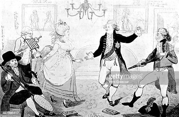 'The April Fool or The Follies of a Night as performed at the Theatre Royal C House for the benefit of the Widow Wadman' 1786 Illustration from...