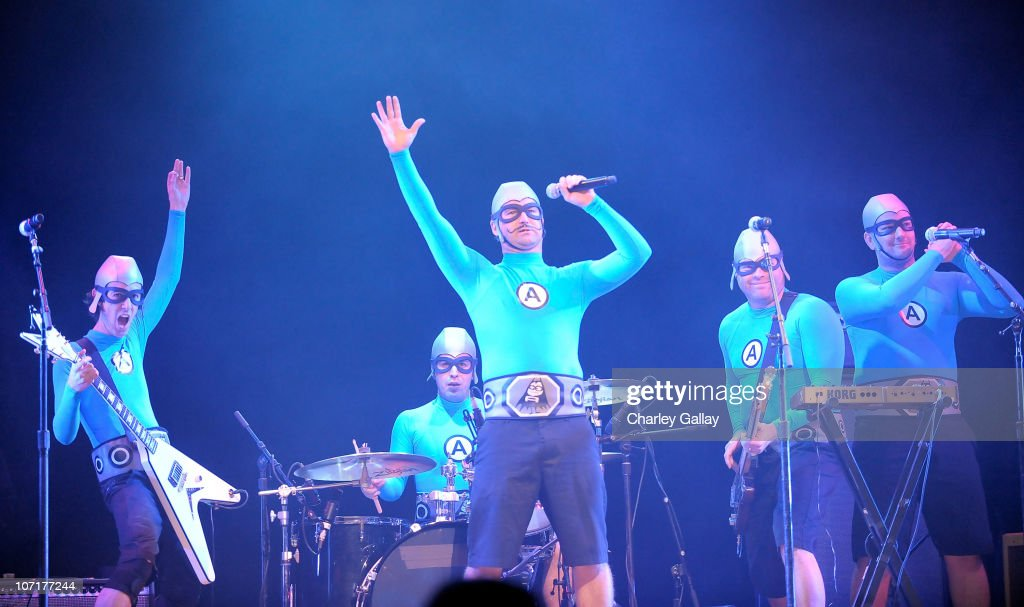 The Aquabats perform at YO GABBA GABBA! @ KIA PRESENTS YO GABBA GABBA! LIVE! THERE'S A PARTY IN MY CITY produced by S2BN Entertainment in association with The Magic Store and W!LDBRAIN Entertainment at Nokia L.A. Live on November 27, 2010 in Los Angeles, California.
