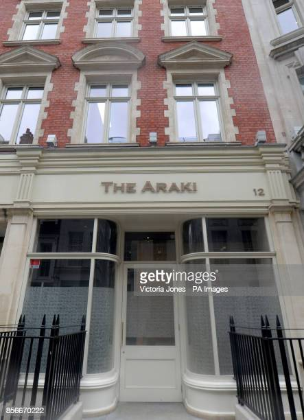 The Araki off Regent Street in London which is the latest British eaterie to gain three Michelin stars