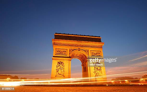 The Arc de Triomphe on June 9 2008 in Paris France