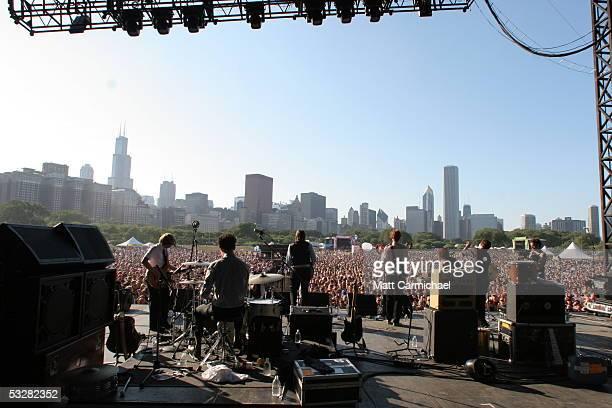 The Arcade Fire perform live in concert at Lollapalooza 2005 day two July 24 2005 in Chicago Illinois