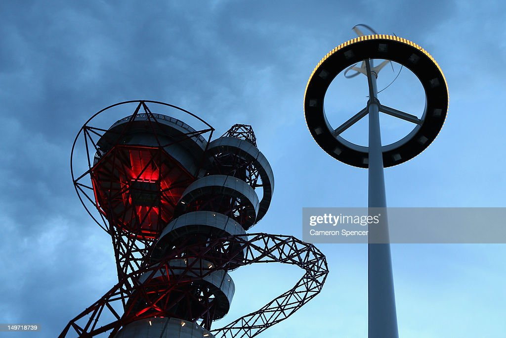 The ArcelorMittal Orbit at Olympic Park on August 2, 2012 in London, England.