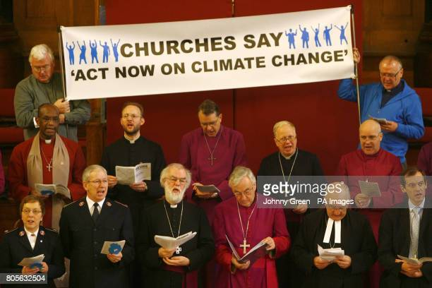 The Archbishop of Canterbury Dr Rowan Williams and the Archbishop of Westminster The Most Reverend Vincent Nichols congregate with fellow climate...