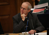 The Archbishop of Canterbury Justin Welby listens as Archbishop Bashar M Warda the Archbishop of Erbil Northern Kurdistan addresses the General Synod...
