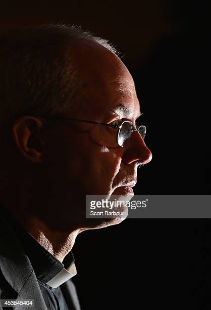 The Archbishop of Canterbury Justin Welby speaks during a press conference ahead of Archbishop Philip Freier's inauguration as Primate of Austalia at...