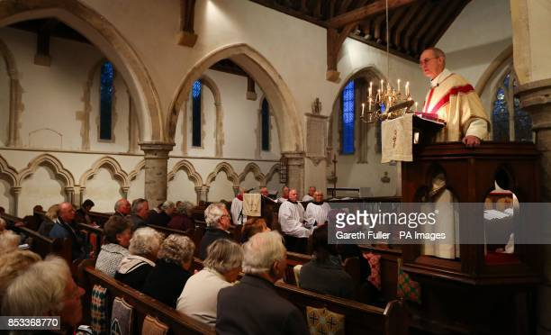 The Archbishop of Canterbury The Most Reverend Justin Welby delivers his sermon to members of the congregation during the Maundy Thursday service at...