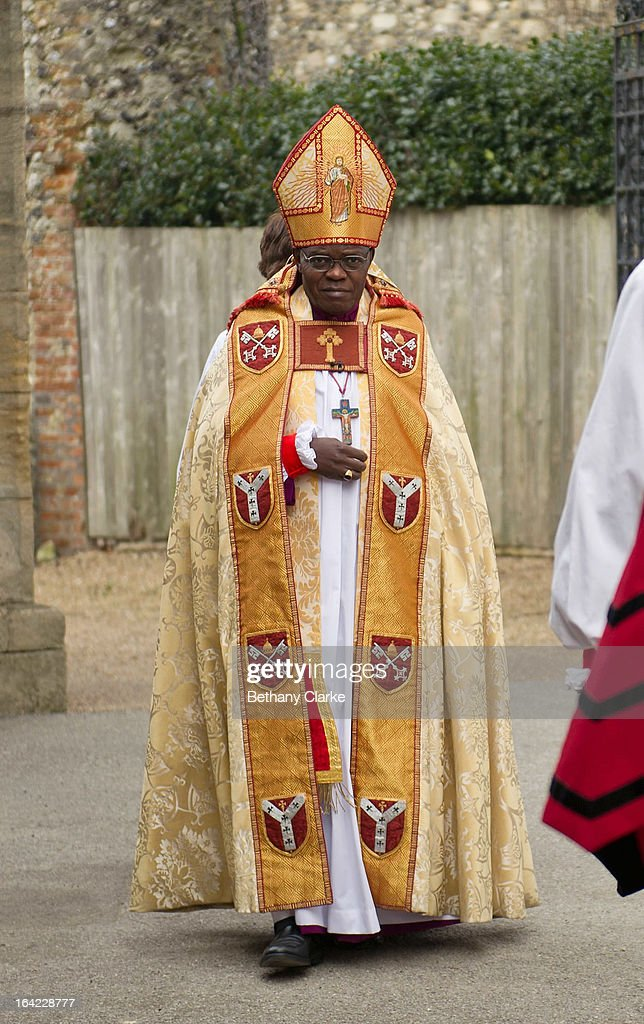 The Archbishop of York John Sentamu arrives at Canterbury Cathedral for the enthronement of Justin Welby as Archbishop of Canterbury on March 21 2013...
