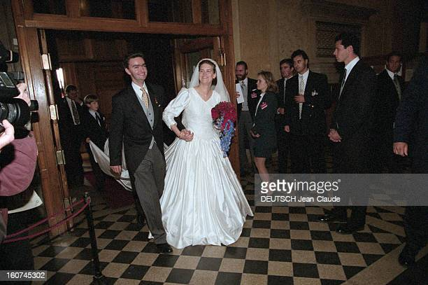 The Archiduc Georg Of Habsburg Marries The Duchess Eilika Of Oldenburg In Budapest A Budapest en Hongrie le 18 octobre 1997 Lors de leur mariage...