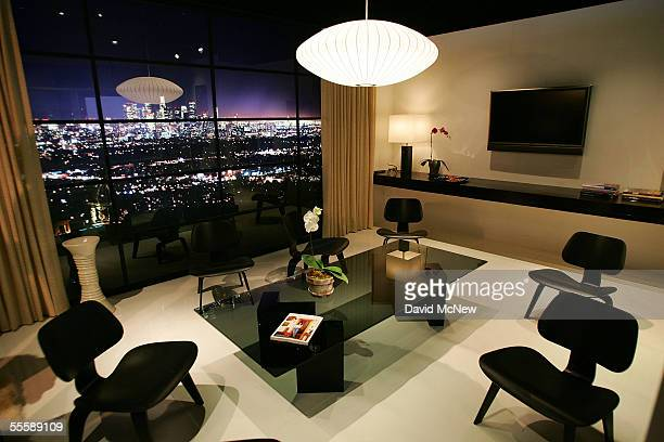 The Architectural Digest Greenroom where celebrities will wait to go onstage during the 57th Annual Primetime Emmy Awards show at the Shrine...