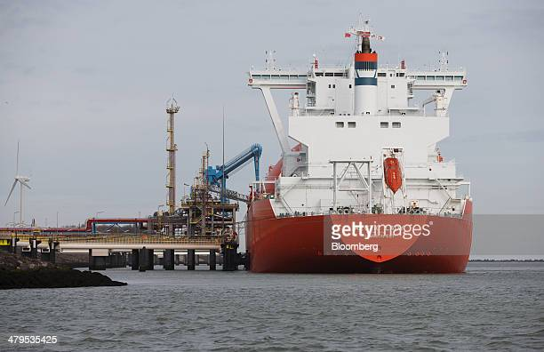 The Arctic Lady liquid natural gas tanker vessel is seen at the Gate liquid natural gas terminal operated by Royal Vopak NV in Rotterdam Netherlands...