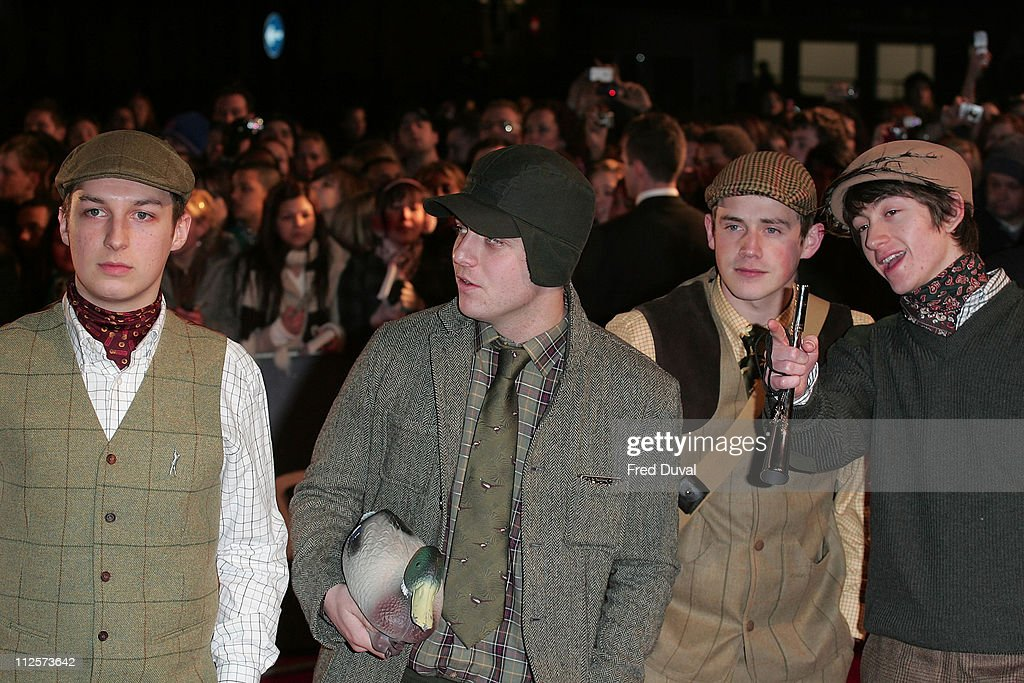 The <a gi-track='captionPersonalityLinkClicked' href=/galleries/search?phrase=Arctic+Monkeys&family=editorial&specificpeople=274715 ng-click='$event.stopPropagation()'>Arctic Monkeys</a> attend the Brit Awards held at Earls Court on February 20, 2008 in London, England.