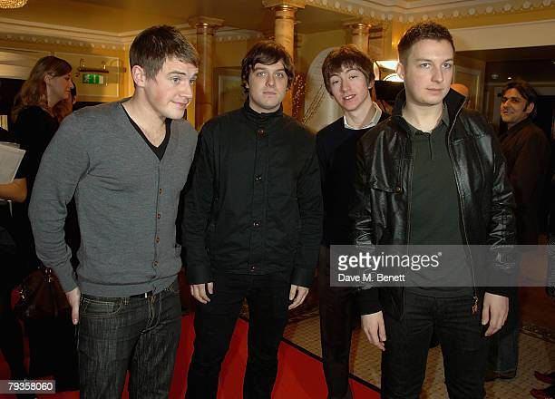 TIME The Arctic Monkeys attend The South Bank Awards 2008 held at the Dorchester Hotel on January 29 2008 in London England