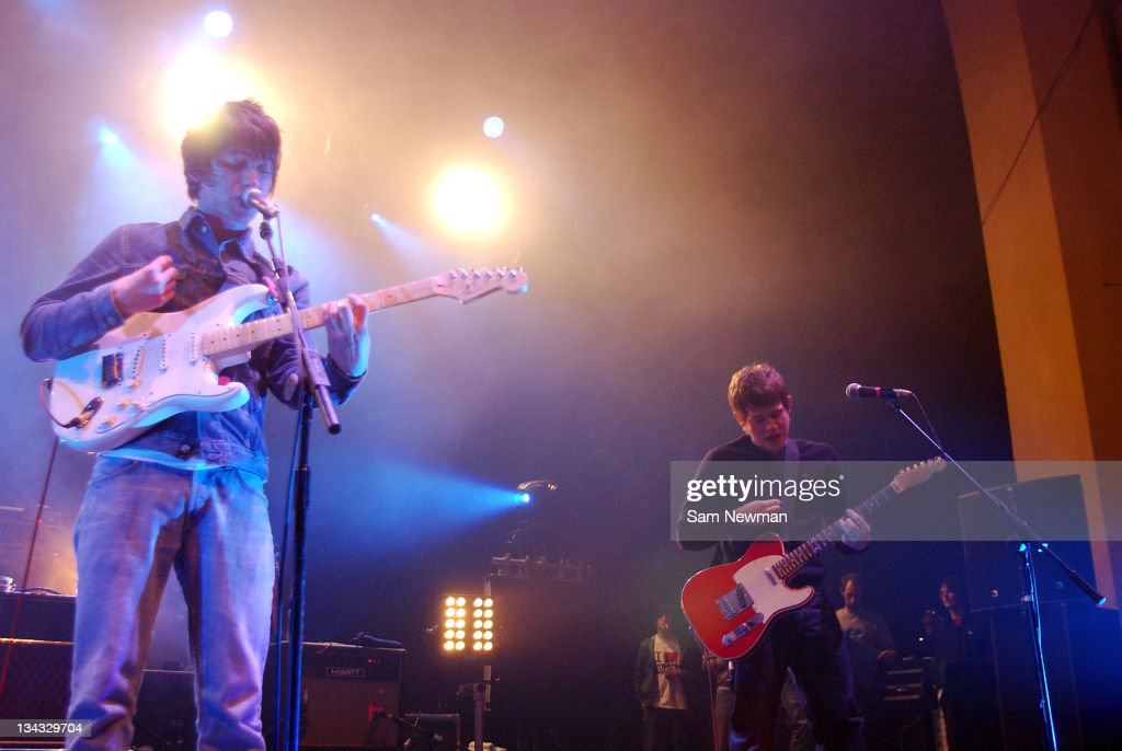 The <a gi-track='captionPersonalityLinkClicked' href=/galleries/search?phrase=Arctic+Monkeys&family=editorial&specificpeople=274715 ng-click='$event.stopPropagation()'>Arctic Monkeys</a> during <a gi-track='captionPersonalityLinkClicked' href=/galleries/search?phrase=Arctic+Monkeys&family=editorial&specificpeople=274715 ng-click='$event.stopPropagation()'>Arctic Monkeys</a> in Concert at Brixton Academy in London - February 17, 2006 at Brixton Academy in London, Great Britain.