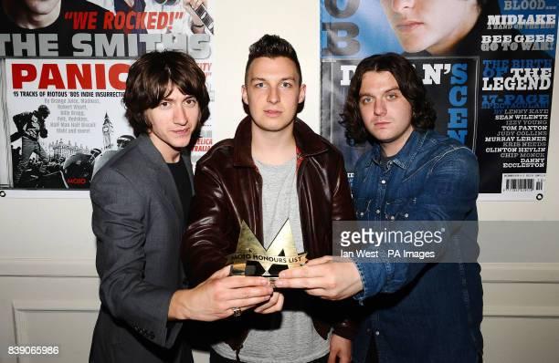 The Arctic Monkeys win the Best Album Award at the Mojo Awards ceremony in London