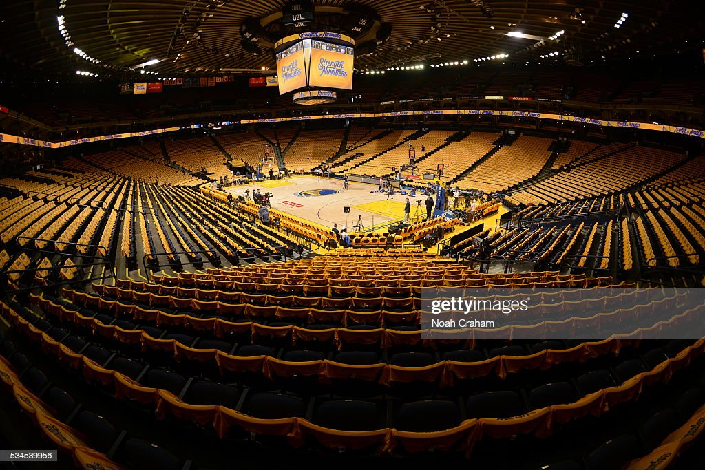 The arena before the Oklahoma City Thunder face the Golden State Warriors for Game Five of the Western Conference Finals during the 2016 NBA Playoffs on May 26, 2016 at ORACLE Arena in Oakland, California.