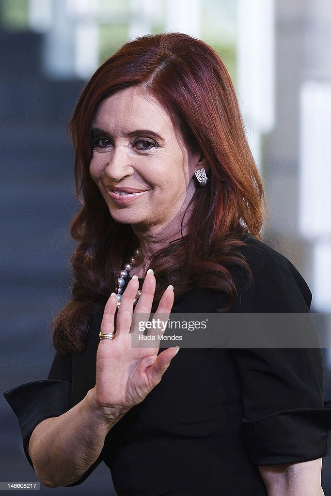 The Argentine president, Cristina Fernandez de Kirchner during opening the United Nations Conference on Sustainable Development, or Rio+20, on June 20, 2012 in Rio de Janeiro, Brazil.