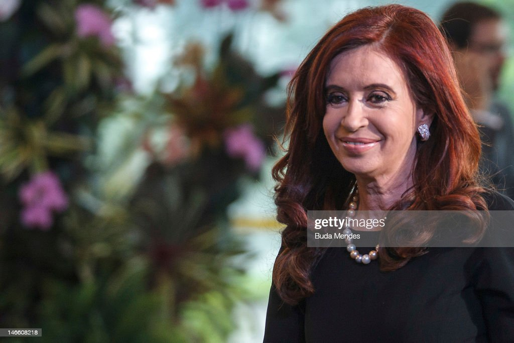 The Argentine president, <a gi-track='captionPersonalityLinkClicked' href=/galleries/search?phrase=Cristina+Fernandez+de+Kirchner&family=editorial&specificpeople=565499 ng-click='$event.stopPropagation()'>Cristina Fernandez de Kirchner</a> during opening the United Nations Conference on Sustainable Development, or Rio+20, on June 20, 2012 in Rio de Janeiro, Brazil.