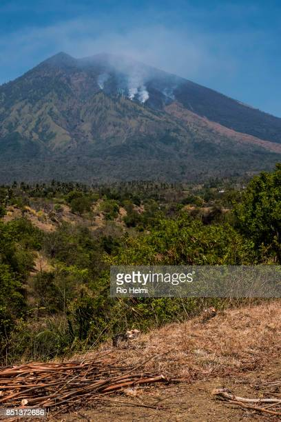 KUBU KARANGASEM BALI INDONESIA The arid northeastern slopes of Mt Agung in the Kubu district are subject to seasonal brush fires and have recently...
