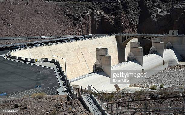 The Arizona Spillway at the Hoover Dam is shown on July 17 2014 in the Lake Mead National Recreation Area Arizona Last week North America's largest...