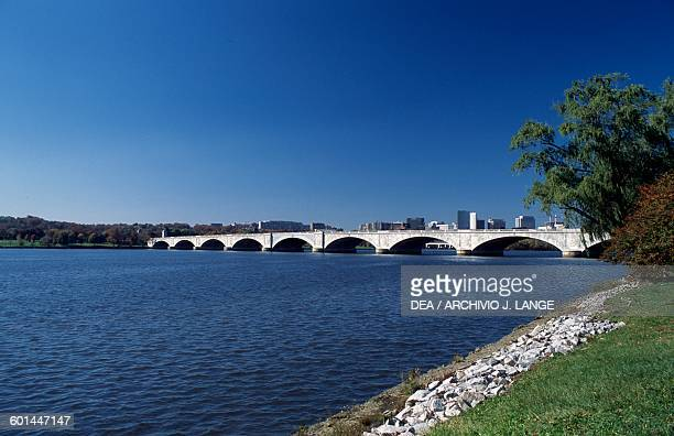 The Arlington Memorial Bridge on Potomac River Washington DC District of Columbia United States of America