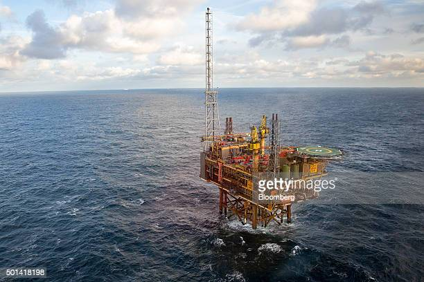 The Armada gas condensate platform operated by BG Group Plc stands in the North Sea off the coast of Aberdeen UK on Friday Dec 11 2015 Royal Dutch...