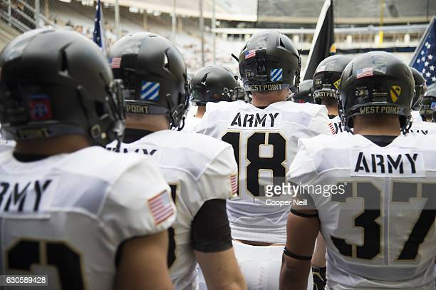 The Army Black Knights take the field before kickoff against the North Texas Mean Green during the Zaxby's Heart of Dallas Bowl on December 27 2016...