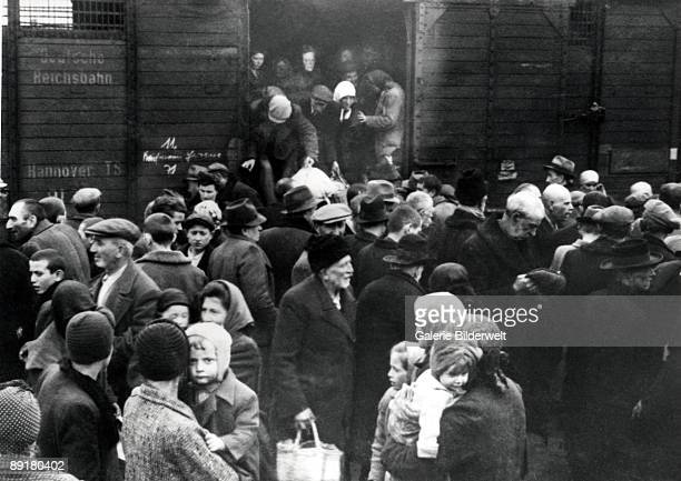 The arrival of Hungarian Jews in AuschwitzBirkenau in Germanoccupied Poland June 1944 Between May 2nd and July 9th more than 430000 Hungarian Jews...