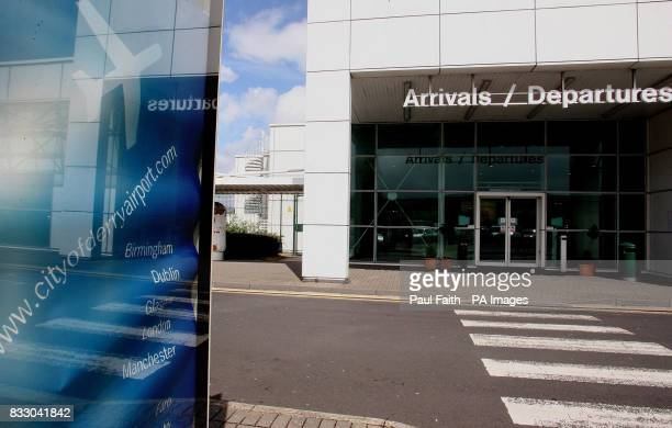 The Arrivals / Departures hall entrance at City of Derry Airport