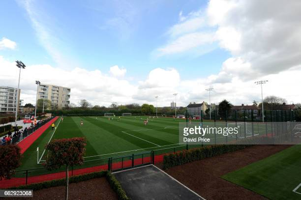 The Arsenal Academy during Arsenal and Juventus in the Liam Brady Cup on April 1st 2017 in Walthamstow England