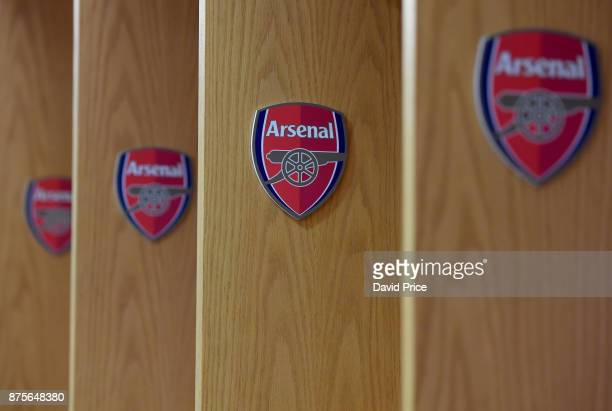 The Arsenal changing room before the Premier League match between Arsenal and Tottenham Hotspur at Emirates Stadium on November 18 2017 in London...