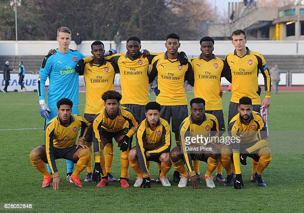 The Arsenal team before before the UEFA Champions League match between FC Basel and Arsenal at Leichtathletik Stadion on December 6 2016 in Basel...