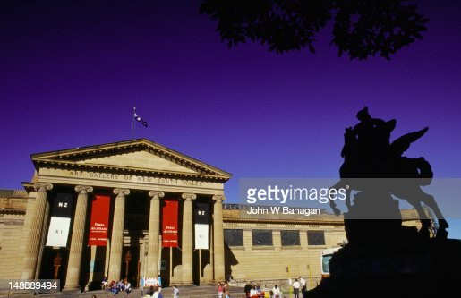 The Art Gallery of NSW began in 1871 and like the museum, its collections were moved around a variety of premises until it settled at its architecturally designed building across from the Domain in 1885