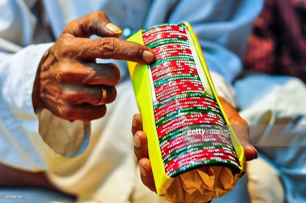 The art of Bangles : Stock Photo